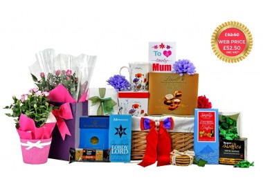All Mum's Favourites Gift Basket with Flowers