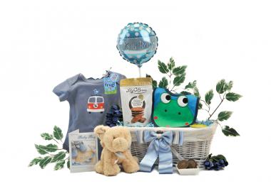 Classic Baby Boy Gift Basket