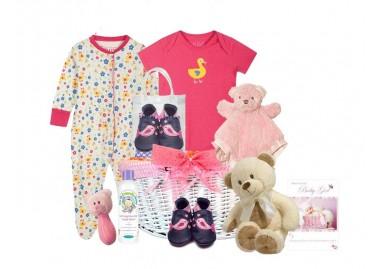 Baby Love Baby Girl Gift Basket