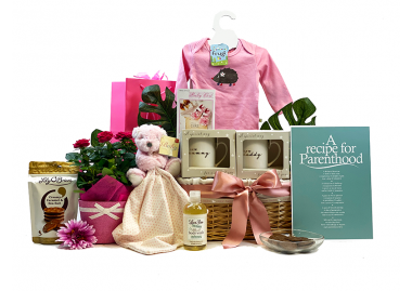 Baby Girl Bouquet Family Gift Basket