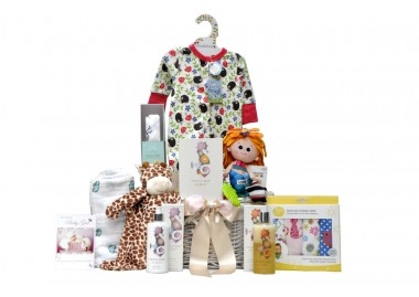 Bright Beginnings Baby Girl Gift Basket UK