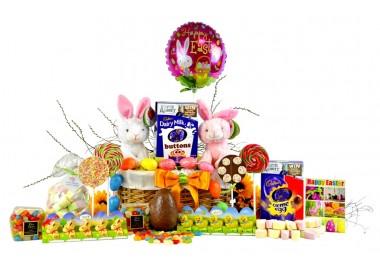 Easter Bunny 2 Children Basket