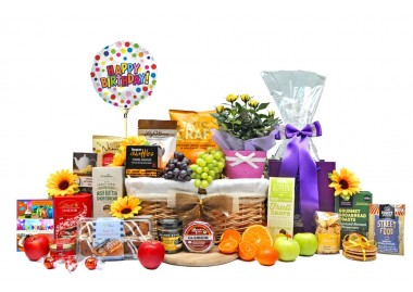 Floral and Fruit Birthday Basket