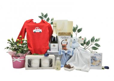 Flowers & Fizz Mummy Daddy & Baby Boy Hamper