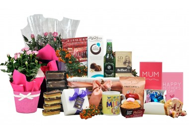 Mother's Day Flowers & Treats Gift Basket