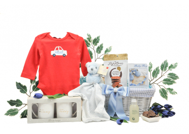 Mummy Daddy and Baby Boy Gift Basket
