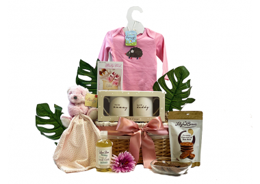 Mummy Daddy and Baby Girl Gift Basket