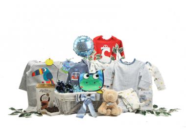 Stylish Baby Boy Gift Basket