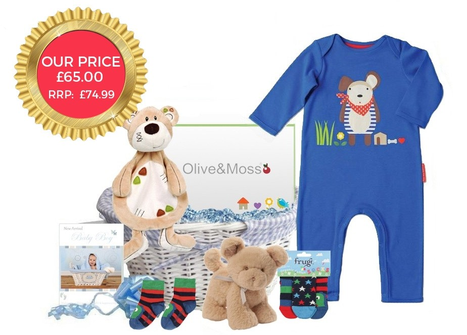 Baby Gift Delivery London : Cutey pie baby boy gift basket