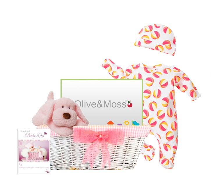 Baby Gift Delivery London : Little monkey baby girl gift hamper by basketsgalore uk