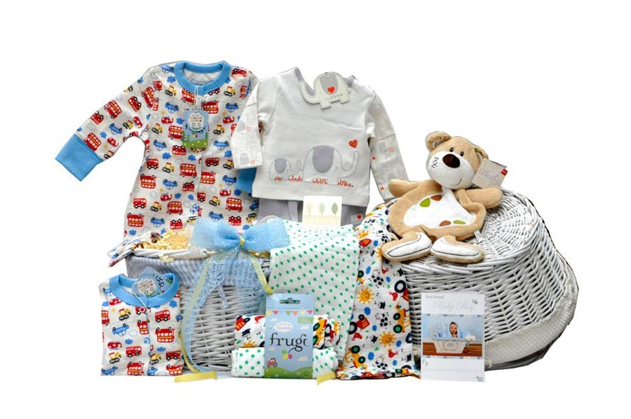 Baby Gift Baskets London England : Natures purest organic baby boy gift basket