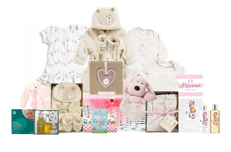 Baby Gift Delivery London : Purely organic baby girl gift basket