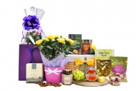 Flowers and Cheese Basket