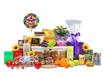 Floral and Fruit Get Well Basket