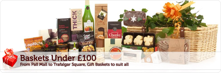 Baby gift hamper london : Gift baskets under ? christmas hampers baby gifts