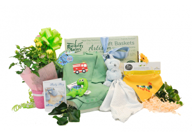 Baby Boy Gift Box With Flowers