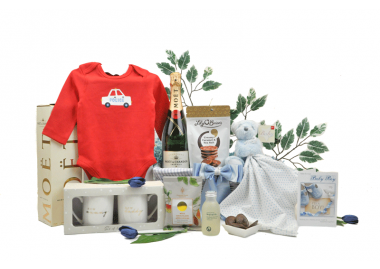Champagne Parents and Baby Boy Hamper