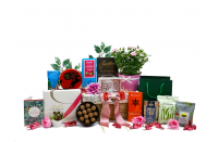 Birthday Flowers and Treats Gift Basket