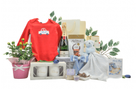 Flowers & Champagne Baby Boy Gift