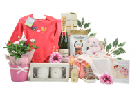 Flowers & Champagne Baby Girl Gift