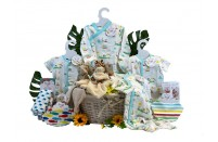 Twins Delight Neutral Baby Basket